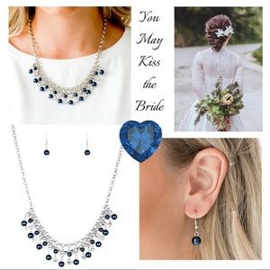 You May Kiss the Bride Blue Necklace Set